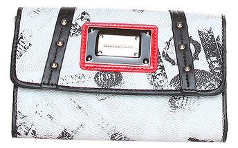 Dámská bílá peněženka s černými a červenými detaily
