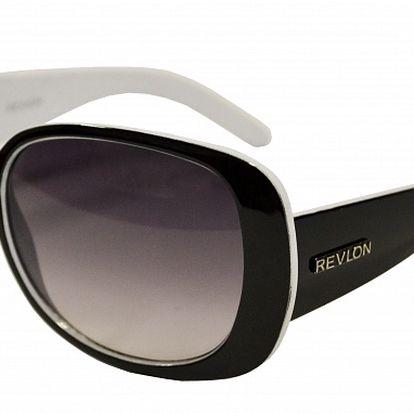 Dámske čierno-biele slnečné okuliare Revlon
