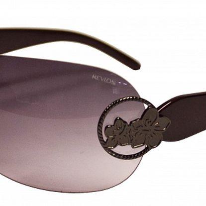 Široké dámska slnečné okuliare Revlon bez obrúčok