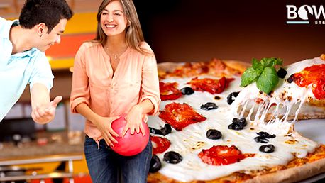 Hodina bowlingu a výborná italská pizza