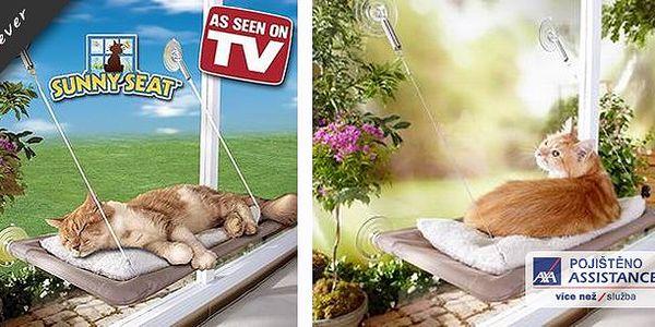 Závěsný pelíšek pro kočky - Kočky milují slunce a výšky a tenhle pelíšek je tak pro ně ideální místo pro spánek, odpočinek či lenošení!