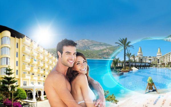 8 DENNÍ LETECKÝ, POBYTOVĚ-POZNÁVACÍ ZÁJEZD TURECKA od pouhých 6990 Kč! 4* hotel na TURECKÉ RIVIÉŘE, POLOPENZE a VÝLETY do oblasti Pamukkale a Antalye v ceně! Úžasná dovolená u průzračného moře se slevou až 38%!