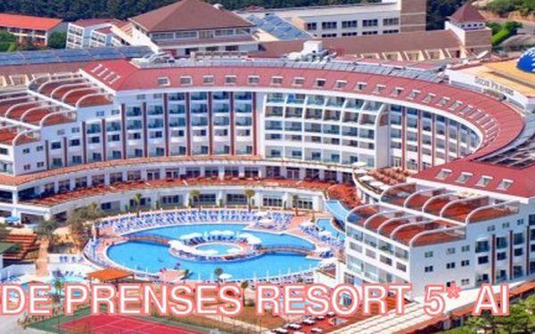 8 denní luxusní all inclusive dovolená v nádherném 5* hotelu Side Prenses Resort & SPA! Atraktivní červnový termín za 12 990 Kč!!! Stačí zaplatit zálohu 90 Kč