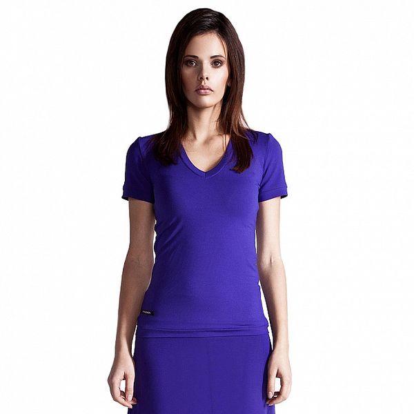 Dámské purpurové tričko Yuliya Babich s krátkým rukávem