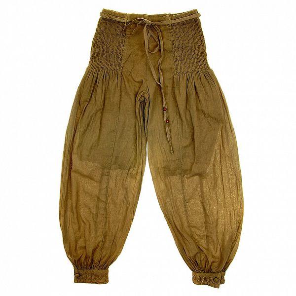 Detské khaki nohavice so žabičkovaním Peace&Love