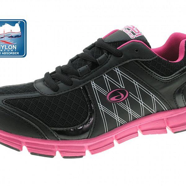 Dámske čierno-ružové tenisky Beppi