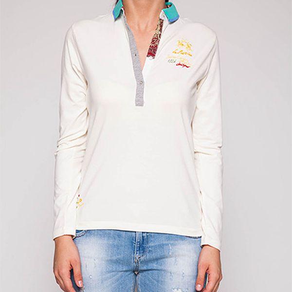 Bílá polo košile