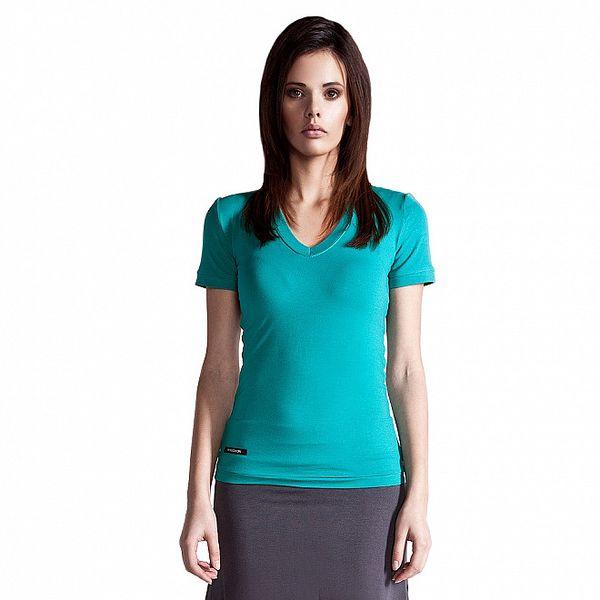 Dámske tyrkysové tričko Yuliya Babich s krátkym rukávom