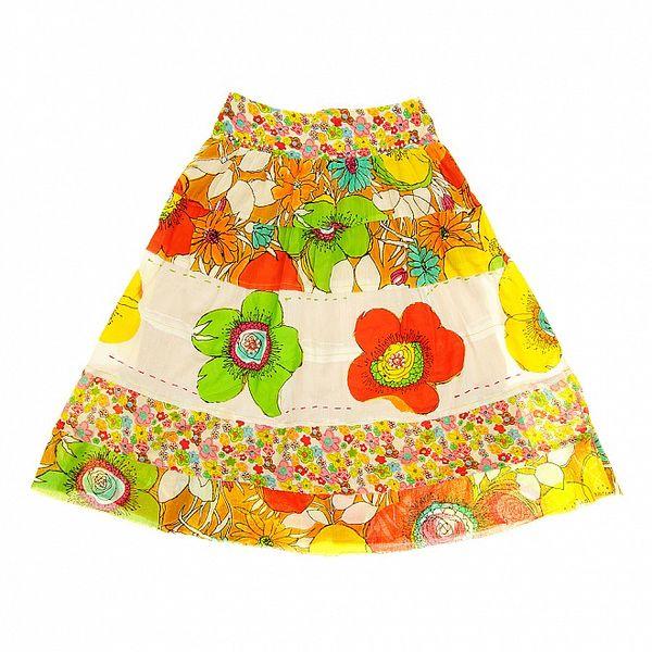 Detská pestrá sukňa Peace&Love