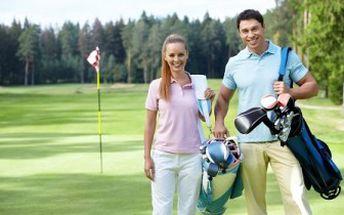 GOLFOVÝ RELAX pro DVA v Lužických horách bez nutnosti registrace v jakémkoliv golfovém klubu!