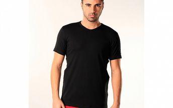 Pánské černé triko s véčkovým výstřihem SixValves