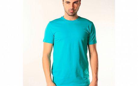 Pánské tyrkysové triko s krátkým rukávem SixValves
