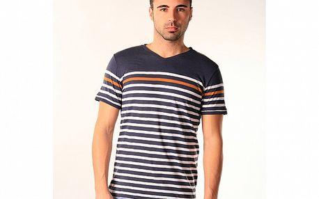 Pánské modro-bílé pruhované triko SixValves