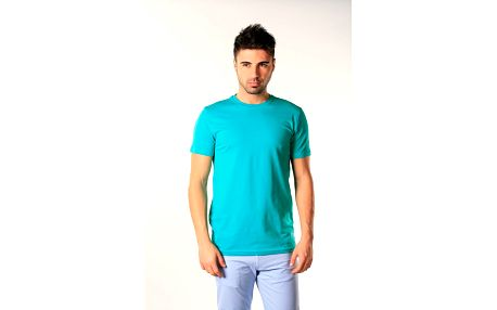 Pánske tyrkysové tričko s krátkym rukávom SixValves