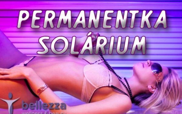 Solárium od 3,5 Kč za minutu - Luxura 530 SLi! 20 min./ 50 min. přenosná PERMANENTKA do studia Bellezza Wellness u Výstaviště! Neomezená platnost permanentky!