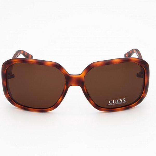 Dámské jantarově hnědé sluneční brýle Guess