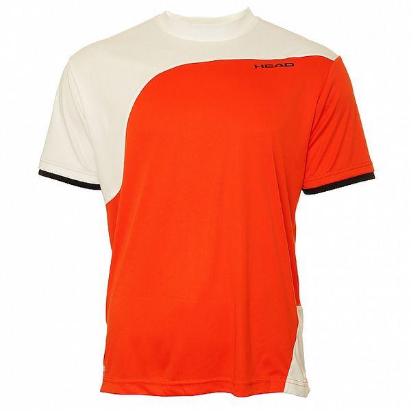 Pánské korálovo-bílé sportovní triko Head