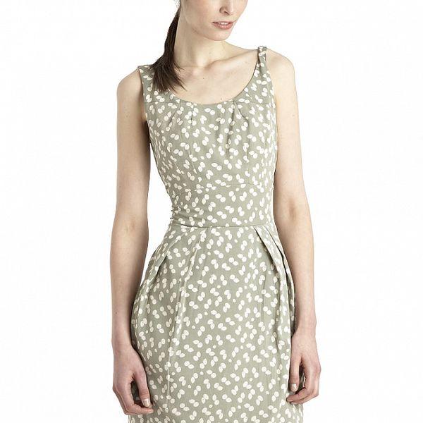 Dámské khaki-bílé šaty Uttam Boutique