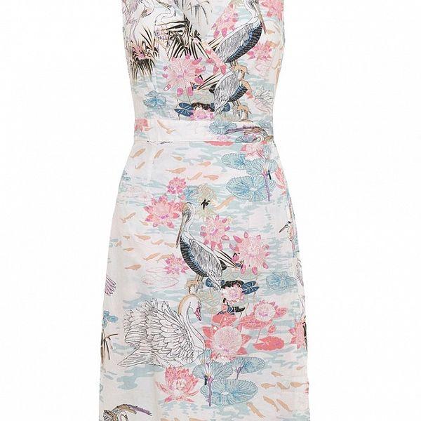 Dámské bílé šaty Uttam Boutique s ptačí lagunou