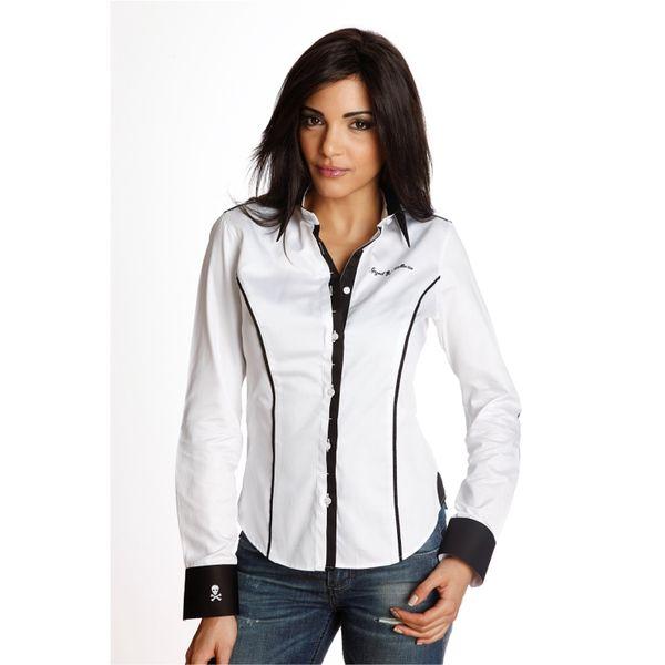 Dámská košile Gazoil Tete de Mort bílá