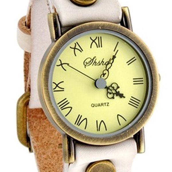 Bílé hodinky s římskými číslicemi a poštovné ZDARMA! - 142
