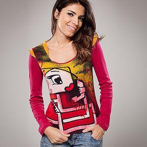 Bavlněné tričko s dlouhým rukávem Avispada