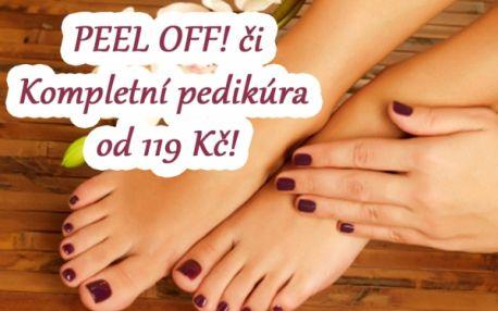 PEEL-OFF gelové zpevnění nehtů na rukou nebo nohou, nebo KOMPLETNÍ PEDIKŮRA! Skvělé řešení pro lámavé nehty! Péče o vaše nehty v Nehtovém studiu Relax!