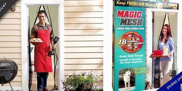 Blíží se léto a otravný hmyz! Magic Mesh - samozavírací sítka na dveře s magnety! Snadná instalace! Konečně žádný otravný hmyz nebo manuální zapínání síťky!