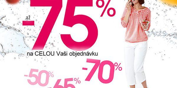 Sleva na francouzskou módu - až 75%! Při objednávce nad 739 Kč doprava ZDARMA!