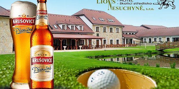 60 minut adventure golfu v areálu Lions s ochutnávkou pšeničného piva
