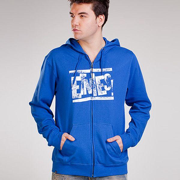 Modrá mikina Etnies s nápisem