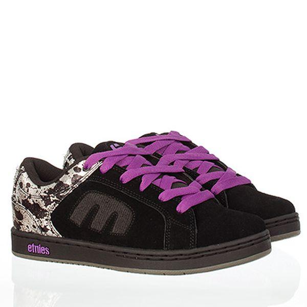 Fialovo-černé skate boty Etnies