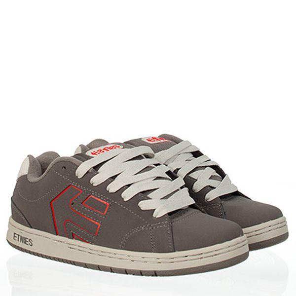 Šedo-červené skate boty Etnies