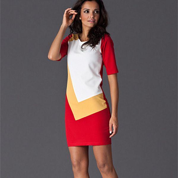 Červené šaty Figl