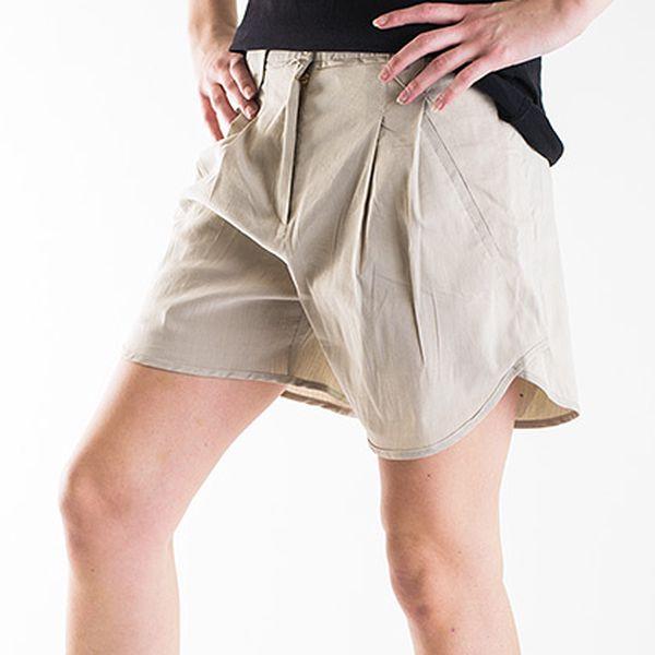 Elegantní béžové krátké kalhoty Hugo Boss