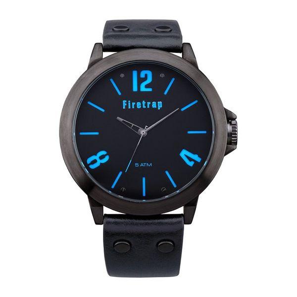 Pánské hodinky Firetrap černé modré čísla