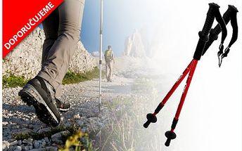 Pár trekingových holí s kompasem za 195 Kč! Teleskopické hole s odpružením šetří vaše klouby a zajistí správné držení těla při sportu!