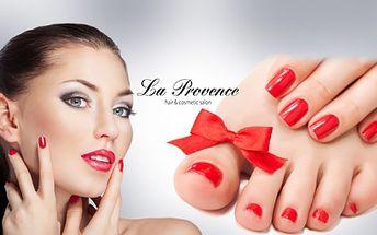 APLIKACE GEL-LAKU včetně základní MANIKÚRY na RUCE nebo NAVÍC aplikace gel-laku na NOŽKY! Krásně upravené nehty v luxusním studiu La Provence jen kousek od OC Flora! Neodolatelná sleva 77%!