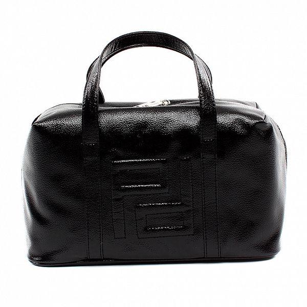 Dámská černá kabelka s vystouplým vzorem Pertegaz
