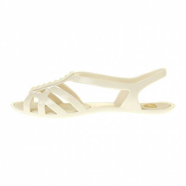 Dámské bílé sandály Mel s pyramidkami