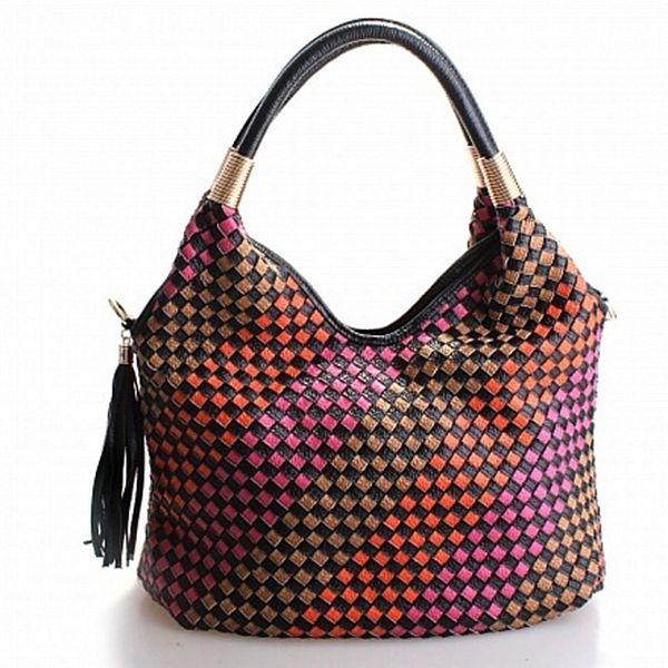 Dámská růžová kabelka Belle&Bloom s barevnými proužky