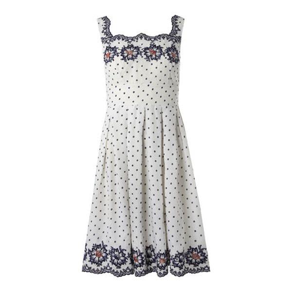 Dámské bílé puntíkované šaty Fever