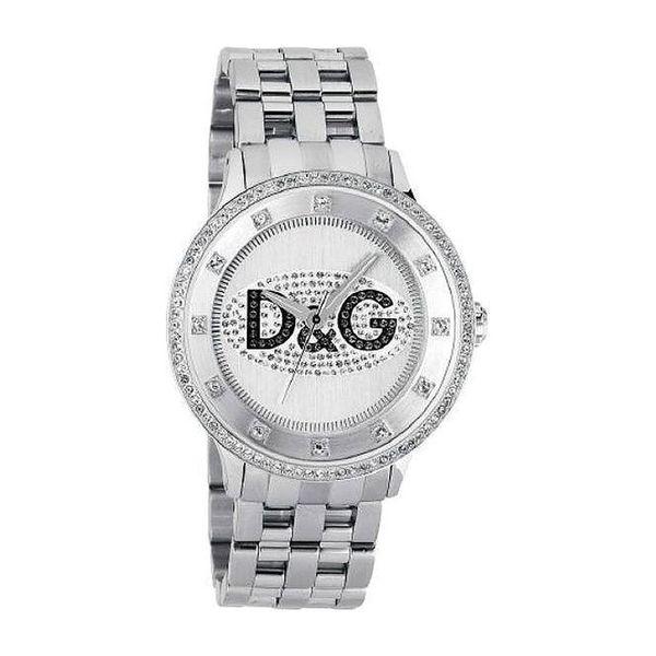 Unisex hodinky Dolce&Gabbana stříbrno-černé se zdobením
