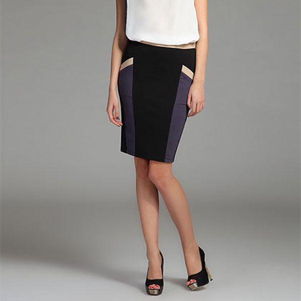Černá sukně s proužky