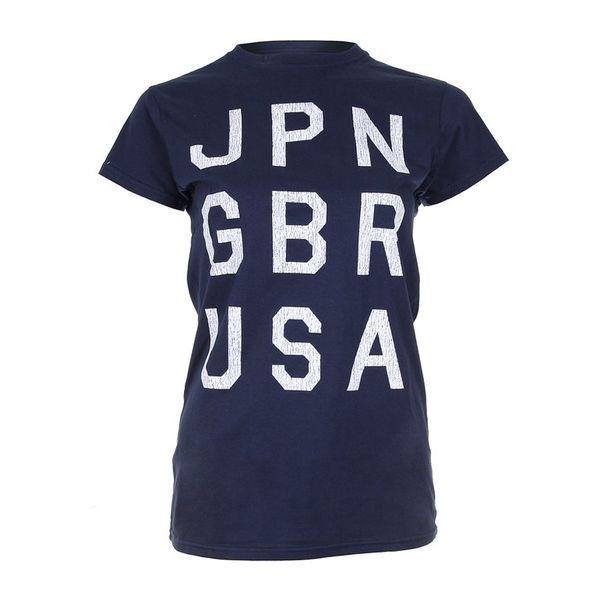 Dámské triko Varsity Team Players tmavě modré bílý nápis
