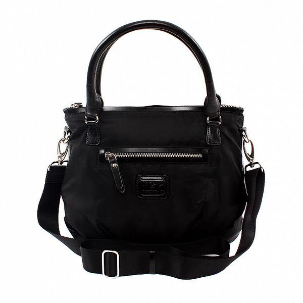 Dámská menší černá nylonová kabelka Pertegaz