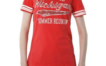 Dámské triko Replay červené potisk