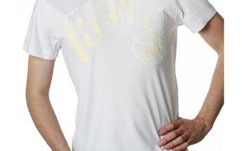 Pánské triko Replay bílé žlutý nápis