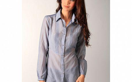 Dámska svetlo modrá košeľa so skladmi Ada Gatti