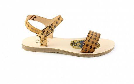Dámske vanilkovo žlté sandále Pelledoca s lebkami